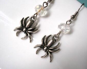 Halloween Earrings, Spider Earrings, Spider Jewelry, Gothic Jewelry, Gothic Earrings, Gifts For Her, Christmas Gift, Gifts For Women
