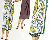 Sale:) UNCUT * 1950's McCalls  Pattern 8391 - Gorgeous Misses' One-Piece Draped Wrap-Around Skirt for Day or Evening * Waist 24