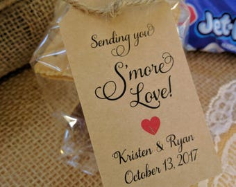 Smores Wedding Favor, Smores Tag, Smore Bar, Smores Wedding Favors Smores Tags, Smore Love Tags Rustic Wedding Favor, TAGS Only, Fancy Font
