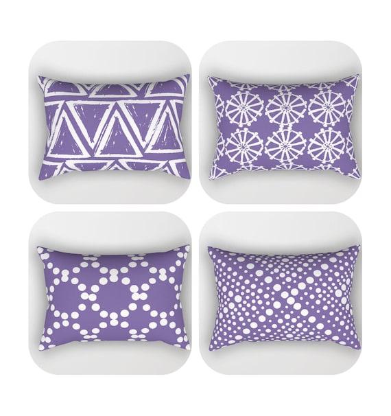 Ulra Violet Lumbar Pillow . Toddler Pillow . Geometric Pillow . Purple Modern Cushion . Pantone Ultra Violet Pillow . Travel Pillow 14 x 20