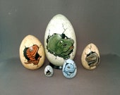 Dinosaur Egg Nesting Dolls