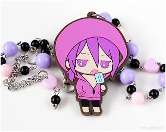 Kuroko no Basuke Murasakibara Pastel Goth Necklace, Chibi Character, Anime Gifts