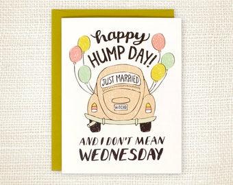 Funny Wedding Card - Wedding Congratulations for Friend - Happy Wedding - Wedding Getaway Car - Hump Day