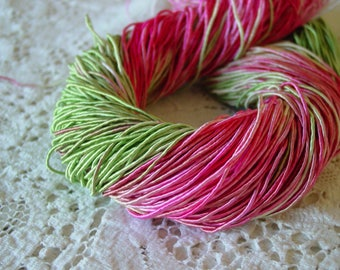 Pre-Cut SALE - Hand Dyed TULIP GARDEN cord, 10 yards