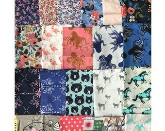 End of Bolt Scrappy Bundle - Cotton + Steel various collections - 7.5 yards remnants