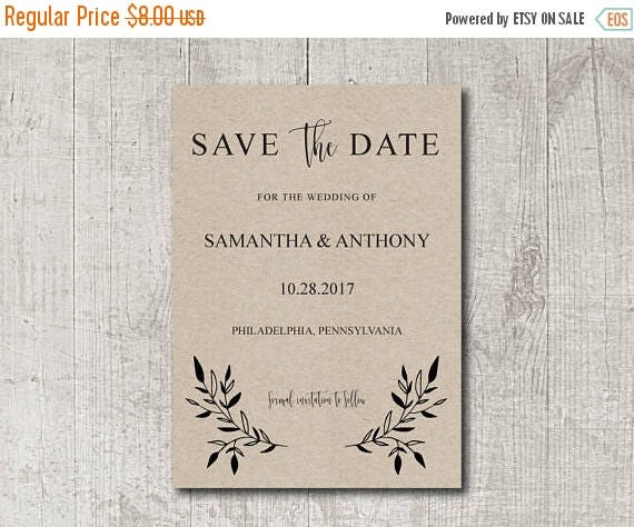 Save the Date Editable PDF Template, DIY Rustic Save the Date, Instant Download, Rustic Save the Date Printable, Save the Date PDF,