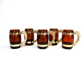 Vintage Siesta Ware Mugs, Collection  of 5