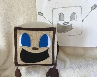 "New! Freckle Box Tim! Tiny Box Tim Plushie! Plush Toy. 5.5"" cube, Pillow. Markiplier Youtuber."