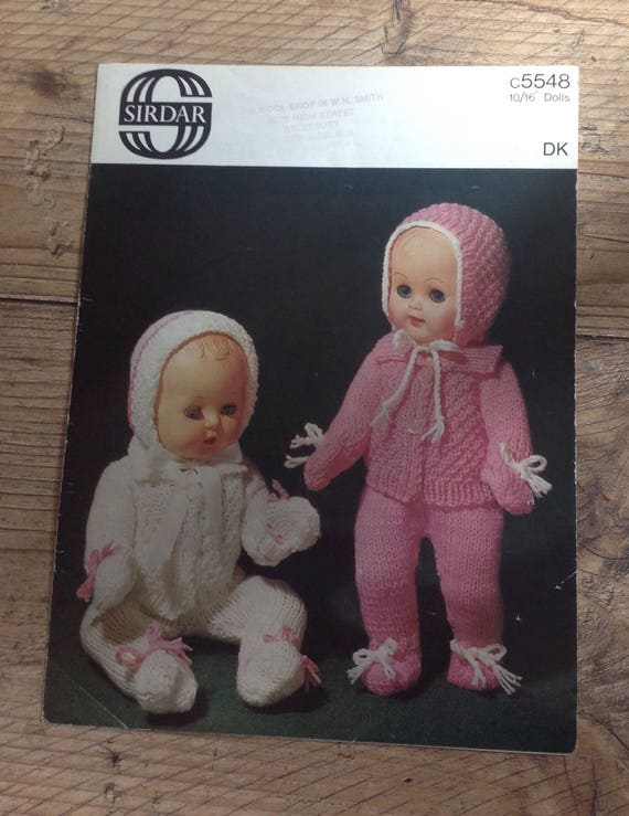Vintage Knitting Pattern Baby Doll Clothes Knitted Dolls