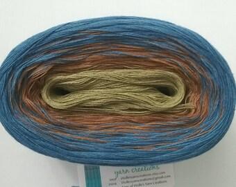 DULCIMER - Color Changing Cotton yarn - 480 yards/100 gr - Fingering Weight