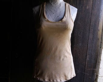 Yoga tops women, yoga tops colour, vest top, organic clothing, organic clothes for women, beige vest, bamboo clothing, underwear, camisole