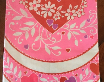 valentines day tablecloth vintage paper tablecloth nos sealed futura brand vintage - Vintage Valentine Decorations