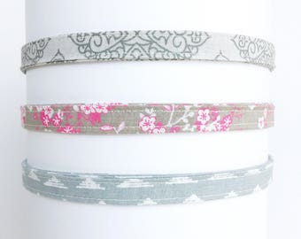 Headband for women   Gray Adjustable Headbands