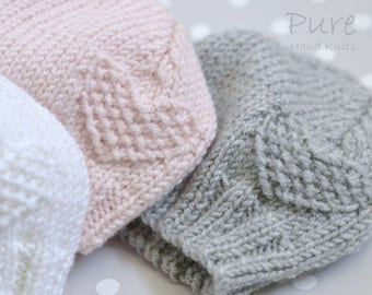 Preemie, Newborn, Baby, Toddler baby hat EASY knitting pattern