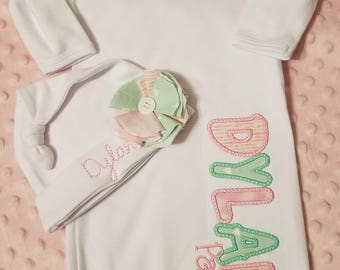 Personalized Baby Gown, 0-3 month