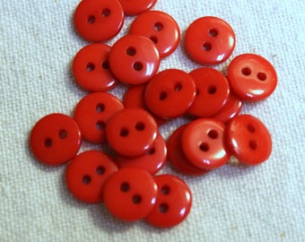 Red Plastic 8 mm Button Sets