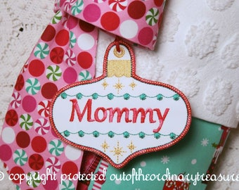 Stocking Name Tag | Personalized Ornament Name Tags Exclusively for ChristmasIsLove Stockings