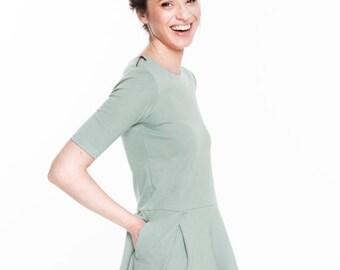 SALE - Mint dress   Rayon dress   3/4 sleeve dress   LeMuse mint dress