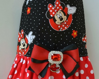 Dog Harness Vest - Dog Dress - Dog Ruffle Harness - No Pull Harness - Small Dog Clothes -  Mouse