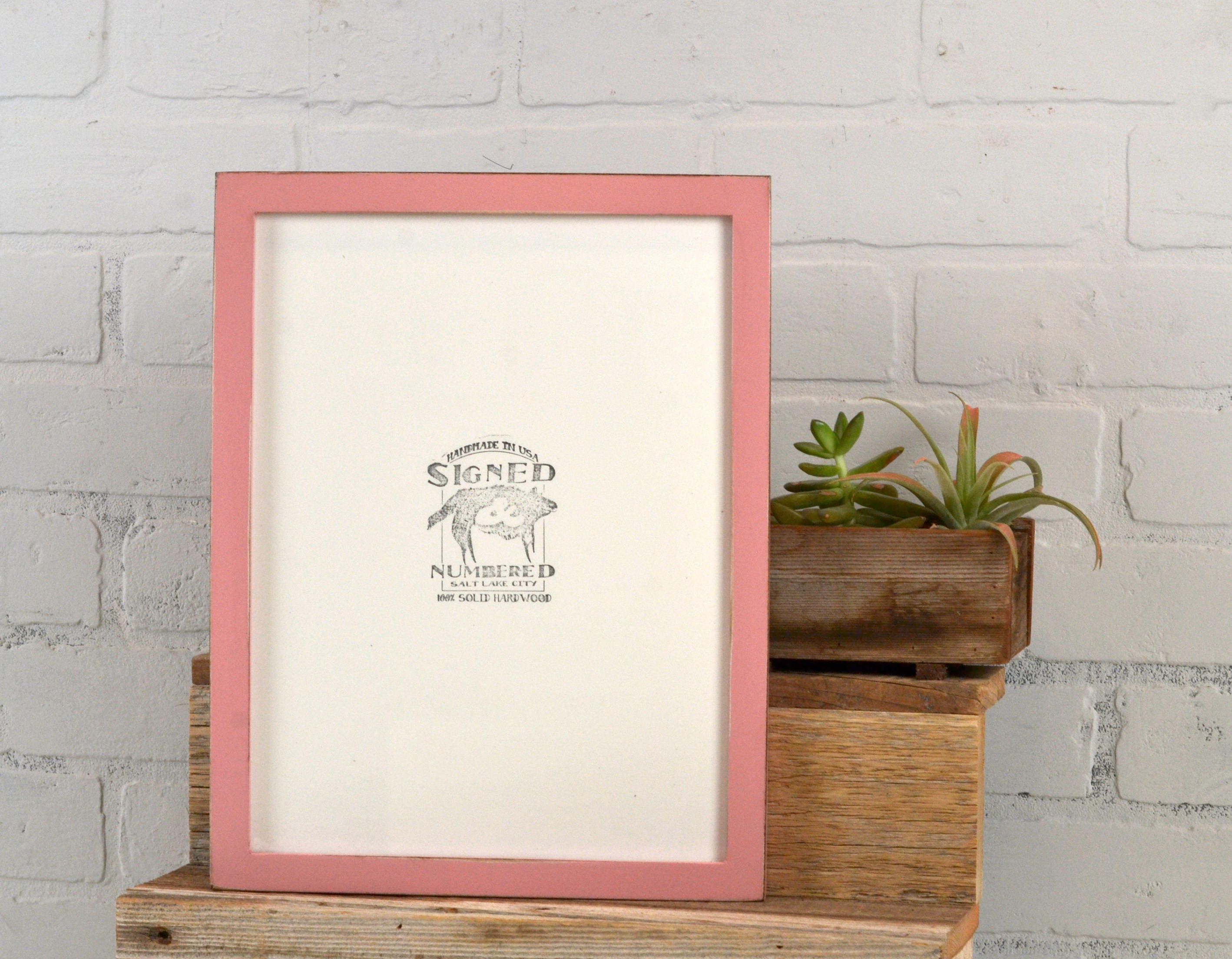 9x12 picture frame in peewee style with vintage rose pink finish sold by signedandnumbered jeuxipadfo Choice Image