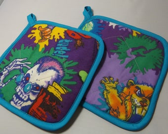 Goosebumps  Pot Holders -Set of 2     Vintage 90s  R.L.Stine