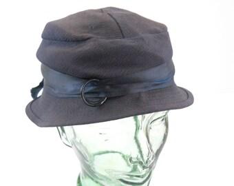 Vintage Shabby 1930s - 40s Hat • Faded Blue Vintage Hat • Vintage Ladies Hat