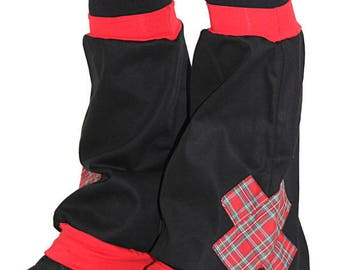 GAITERS CROSS SCOTTISH RED AND BLACK GABARDINE