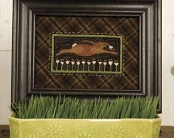 Rabbit Hare Night Burglar 305 Punchneedle Punch Needle Threads That Bind Pattern