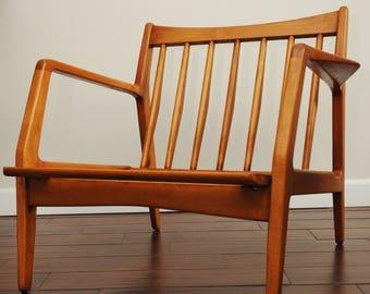MCM Danish Lounge Chair-Selig 1950's-60's Low Arm Lounge Chair-Ib Kofod Larsen