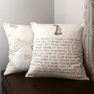 Velveteen Rabbit Pillow Cover