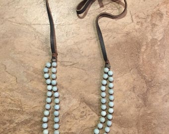 Amazonite Necklace to calm+alleviating+anxiety