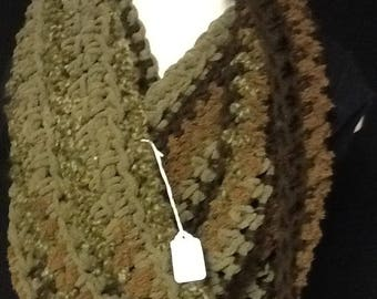 Olive/ Brown Cowl