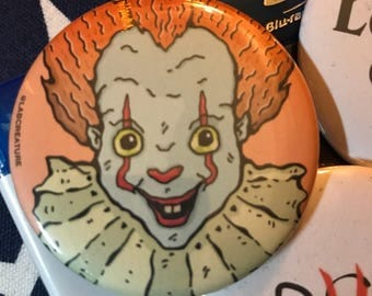 """PENNYWISE IT Button Pin Badge 2.25"""""""