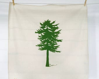 Green Conifer Tea Towel - READY TO SHIP