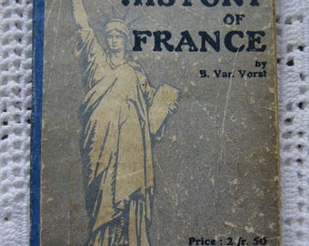 Antique Book A Popular History of France 1918  92 Illustrations 2 Maps Librairie Larousse Charming Book