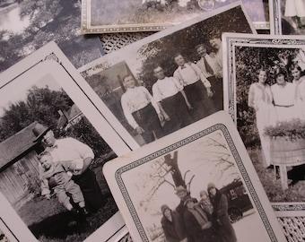 Vintage Photographs, People, Men and Women, Black and White Photo Lot, 7 pcs., Journaling, Scrapbooking,