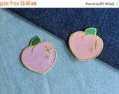 SALE Sparkle Peach Patch - 2 Colors Available Light Orange and Light Pink
