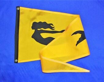Nautical Flag Boat Gifts Orange Mermaid Custom Flag Boating Gift for Her theflagchick