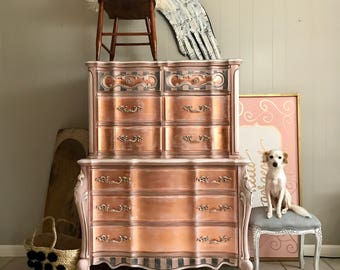 Rose Gold French Dresser Chest