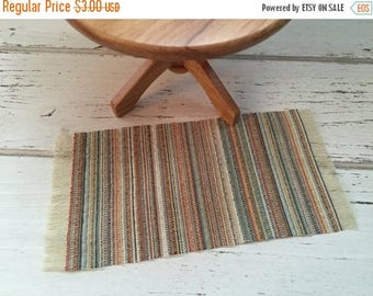 ON SALE Miniature Fringe Rug, Dollhouse Miniature, 1:12 Scale, Multi Colored Throw Rug, Dollhouse Accessory, Decor, Mini Rug