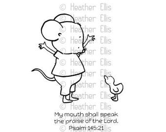 Mouse, Duck, Unmounted Rubber Stamp set, Paper crafting, Scrapbooking, Bible Journaling, Cute Stamp, Stampers, Crafters stamps, Stamping set