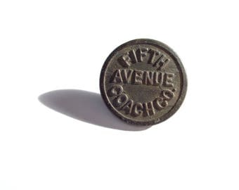 Antique Fifth Avenue Coach Co. Uniform Button