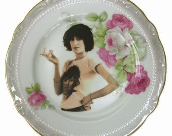 Patti Smith Altered Vintage Plate 6.25""