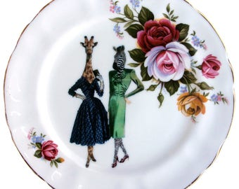 BFF's Lucinda and Hazel Plate 6.5""