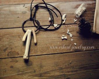 Cereberus - bone and wood, ethically made