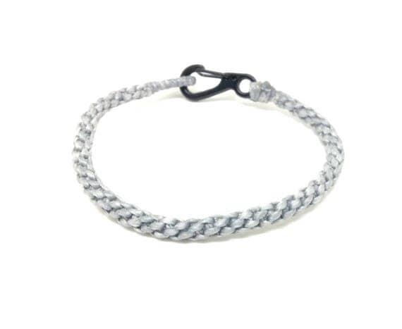 Classic Fair Trade Grey Cotton Handcrafted Wristwear Thai Buddhist Wristband Bracelet