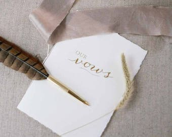 Paper Vow Book - Wedding Vow Booklet - by Claire Magnolia
