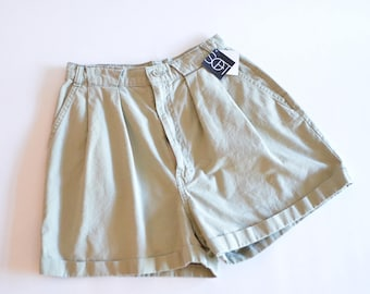 Vintage 1980s highwaist sage COTTON shorts