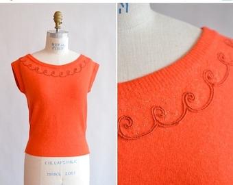 25% off Storewide // Vintage 1950s ANGORA wool sweater