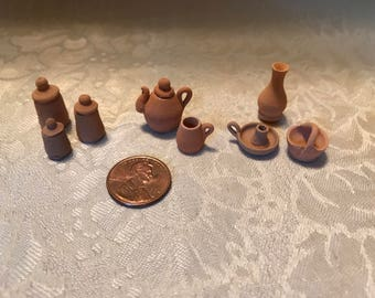 Miniature Mexican Pottery for the Dollhouse